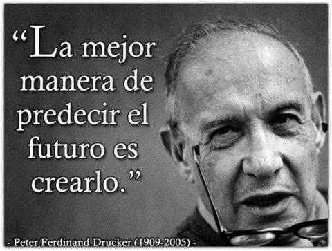 Peter Drucker frase sobre el futuro